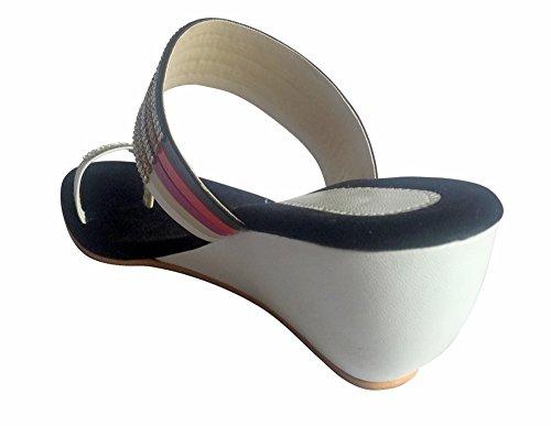 Étape N Style Argent Lady strass mariage mariée soirée sandale chaussure jutti mojari multicouleur - Multicolore
