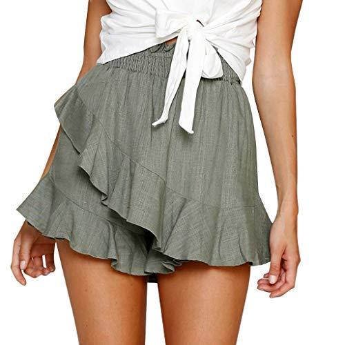Elsta Damen Hosenrock Unregelmäßigen Kurze Shorts Skirt Elegante Lässige Hose Bein Sommer Shorts Minirock Sportrock Sport Fitness Yoga Short Kurz Kleid