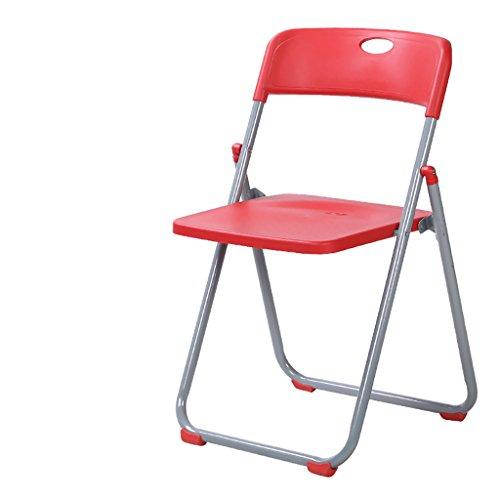MXXYZ Klappsessel klappstühle Klappstühle Home Plastikstühle Moderne Minimalistische Trainingsstühle Staff Stühle Freizeit Stühle Red Stairs