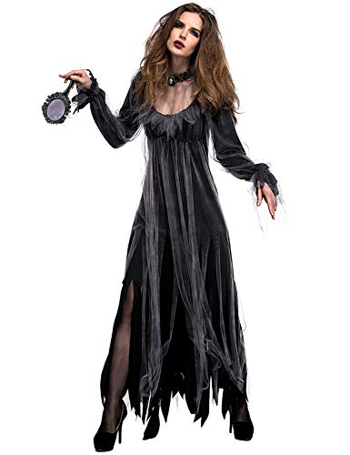 Xinsh vestito operato da halloween per le donne del costume della sposa del cadavere del fantasma del cimitero