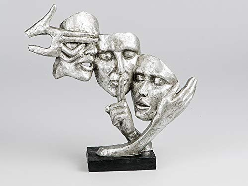 """Formano Skulptur """"Deko Büste Gesichter"""", 37 cm, silber"""