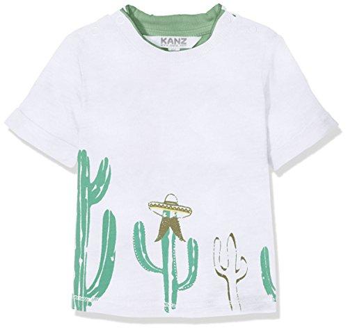 Kanz Baby-Jungen T-Shirt 1/4 Arm Weiß (Bright White 1000), 62