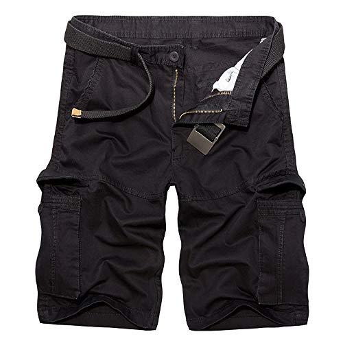 Sommer Herren Cowboy Shorts Knie Länge Shorts für Männer Neue Mann Casual Shorts Tasche Cargo-Shorts Männer Plus größe(Kein Gürtel) x1 ()