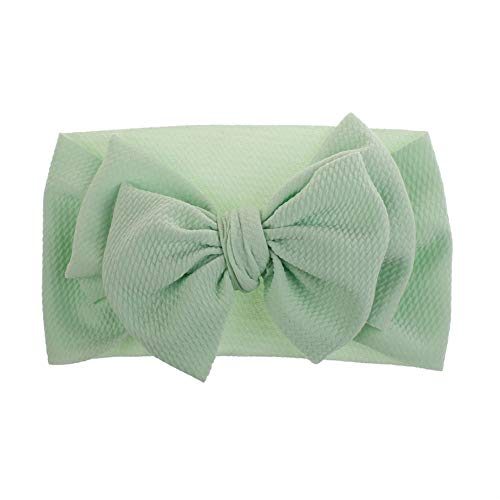aby Big Bow Stirnband Turban Infant Solid Color weiche elastische Haarband Mint Green ()