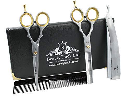 Profi Friseurschere - Perfekt für Haarschneider mit Stil - Friseurschere - Friseurschere und Friseursalon zur Haarentfernung Set - Steticistursalon - coincidente Giftset