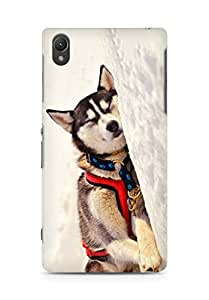 Amez designer printed 3d premium high quality back case cover for Sony Xperia Z2 (Dog 6)
