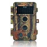 DIGITNOW 16MP Cámaras de Caza 1080P HD Impermeable,Gran Angular de 120° y 40pcs IR LED Infrarrojo Visión Nocturna con Hasta 20M,Sendero Juego Camera, Cazar Vigilancia de la Fauna