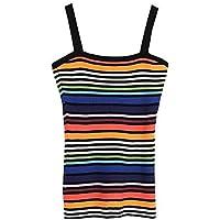 Good dress Top de Corte Slim Sexy de Mujer de Color Fino con Rayas en Las Mujeres, s