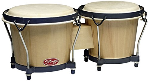 STAGG BW 70 N 6 AND 7 TRADITIONAL WOODEN BONGO SET   NATURAL