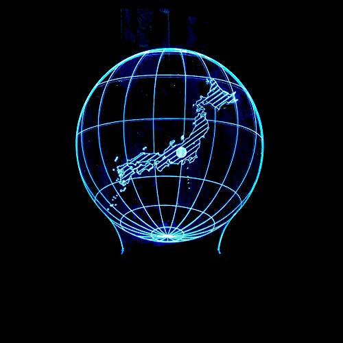 3D Led Luz De Noche Modelo De Mapa Lámpara De Ilusión