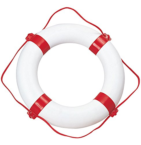Compass Rettungsring Rettungsreifen, 65 cm, Weiß/Rot