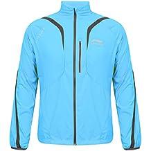 Li ning-a107 veste de course légère pour homme bleu