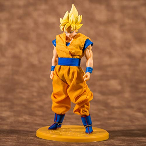QYSZYG Toy Statue Dragon Ball Toy Saiyan Statue Super Saiyan Sun Wukong Anime Surrounding 23 CM
