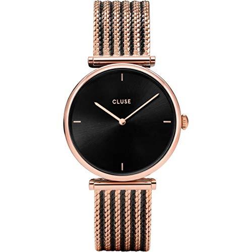 Cluse Damen Analog Quarz Uhr mit Edelstahl Armband CL61005