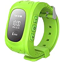 332PageAnn Reloj Inteligente Niño Q50 Deportivo Bluetooth Smartwatch GPS Pulsómetro En La Muñeca SOS Emergencia Fitness Tracker Pantalla Táctil Ranura para Android Azul Rosado Verde by