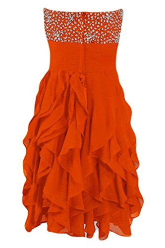 Sunvary Fashion Cocktail Party Dresses Homecoming Sweetheart Chiffon vestito Orange
