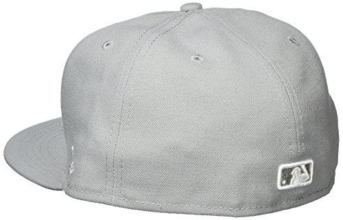 New Era Erwachsene Baseball Cap Mütze Mlb Basic LA Dodgers 59Fifty Fitted Grey