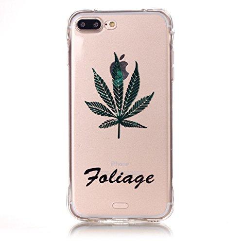 Voguecase® für Apple iPhone 7 4.7 hülle, Schutzhülle / Case / Cover / Hülle / TPU Gel Skin (Lace Blume) + Gratis Universal Eingabestift Ahornblatt 01