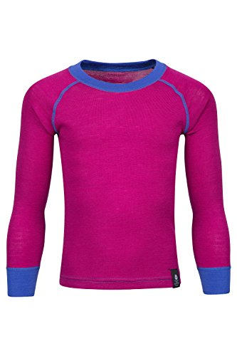 Mountain Warehouse Merino Kinder-Rundhalsoberteil Unterhemd Thermounterwäsche Skiunterwäsche Langarmshirt Winter Baselayer Winter Baselayer Rosa 104 (3-4 Jahre)