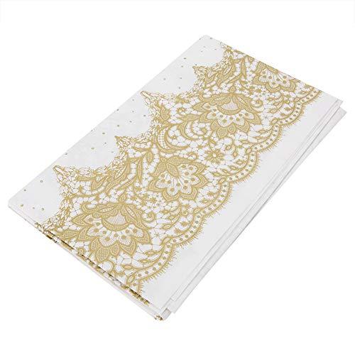 Mantel rectangular desechable de papel