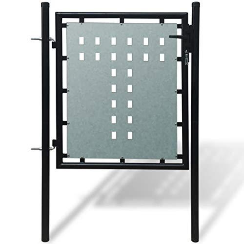 vidaXL Portail porte simple avec partie sup/érieure en cerceau Portillon de jardin