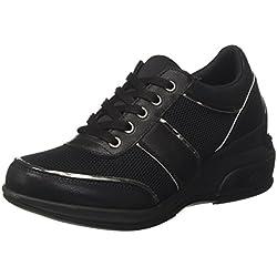 Fornarina Daily, Sneaker Donna, Nero, 39 EU