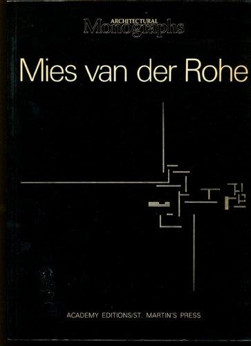 Mies Van Der Rohe: European Works (Architectural Monographs) por Sandra Honey