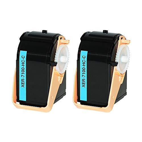ASC-Marken-Toner Doppelpack für XEROX 106R02602 Cyan (2 STK.) kompatibel - 9000 Seiten -