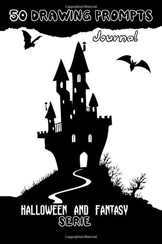 50 Drawing Prompts Journal - Halloween and Fantasy serie