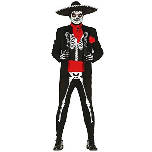Imagen de disfraz de mexicano zombie talla l