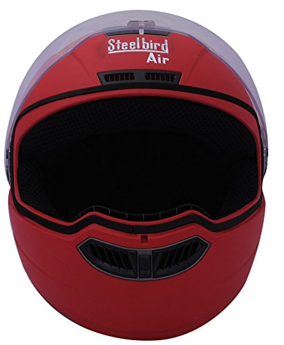 Steelbird STE_AIR_2 Air Classic Full Face Helmet with Visor (Red, M)  available at amazon for Rs.1279