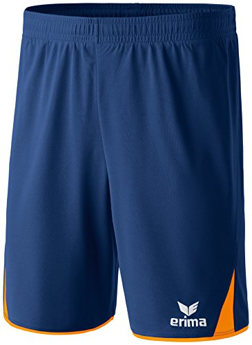 erima Herren Classic 5-C Shorts, new navy/neon orange, XL