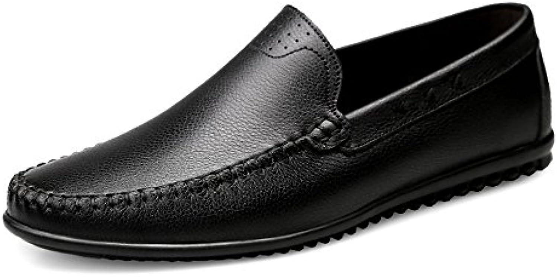 Xiazhi-scarpe, Mocassino da uomo in pelle stile hollywoodiano, hollywoodiano, hollywoodiano, (Coloree   Nero, Dimensione   43 EU) | Dall'ultimo modello  7ed7bf