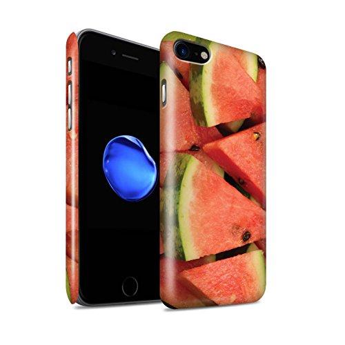 STUFF4 Glanz Snap-On Hülle / Case für Apple iPhone 8 / Melone Muster / Saftige Frucht Kollektion Melone