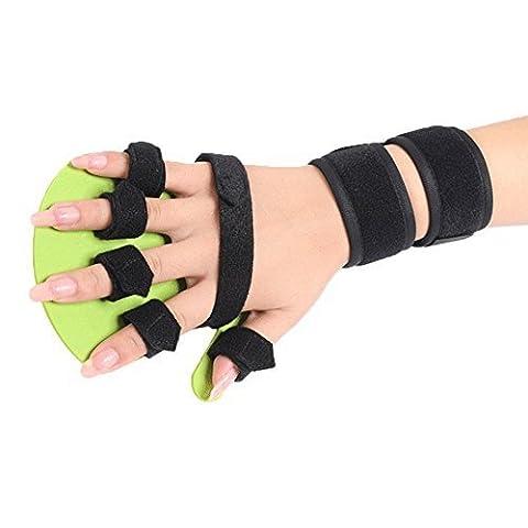 OBER Hand Wrist Orthosis Separate Finger Flex Spasm Extension Board Splint Apoplexy Hemiplegia (Right Hand (Stecca Di Estensione)
