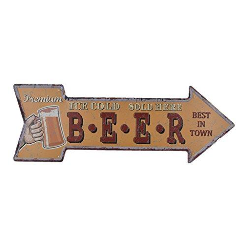 Gazechimp Flecha Vintage Metal Cartel De Chapa Placa Palabras Slogan Decoración De Pared Puerta Garaje Cafetería Arte Adorno de Hogar - F