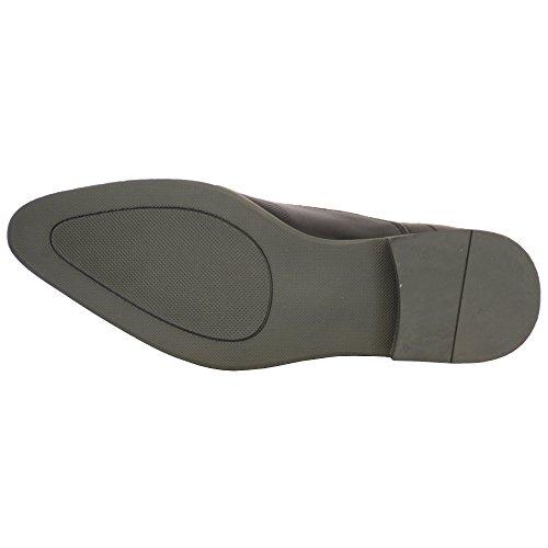 295cb5117ba721 ... Herren förmliche Schuhe Lederoptik Italian spitz Schnürer Freizeit Mode  Designer schwarz - M011