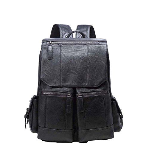 Retro Computer Tasche Männer Schulter Tasche Tasche Rucksack Lässig Einfach Wild Black