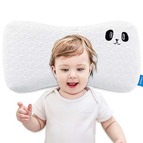 NOFFA Memory Foam Kissen für Kinder, Kleinkinderkissen, flaches Schlafkissen für Kinder mit waschbarem Bezug und Anti-Milben (2-8 Jahre) -Kinderkissen aus 100{db7d765e407e2834509a2b71d7eef2322a14bcfe24ba27024d62fa74b25e4448} natürlichem Material