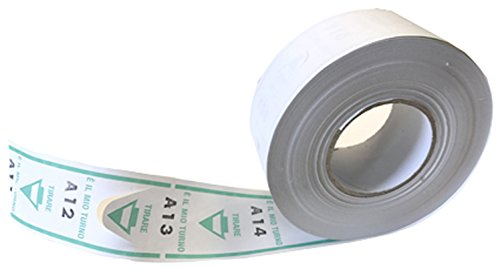 Sa.Ba.Cart 43000402002 Confezione 40 Rotoli da 2000 Tickets Eliminacode Coda di Rondine, Verde