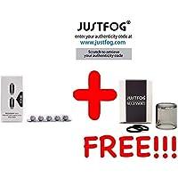 CERTIFICATO Lote de 5 resistencias JUSTFOG Fog 1 FOG1 0.8 Ohm o 0.5 Ohm + 1 JUSTFOG FOG1 Tank Pyrex
