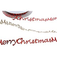 Schriftzug 25 mm Breite Scrapbooking Bord/üre SekleBo/®-Selbstklebende Bord/üre Merry Christmas Dunkelrot Weihnachtsdekoration Kartengestaltung 9,3 m L/& Weihnachtskarten Weihnachtsaufkleber