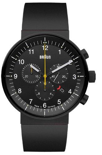 Braun BN0095 - Reloj (Reloj de pulsera, Acero inoxidable, Negro, Caucho, Negro, Zafiro)