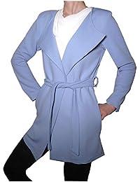Cardigan Leggero Cappottino Trench Elegante Aperto Cintura Primavera Moda  Avvitato Ragazza Donna 6a664567128