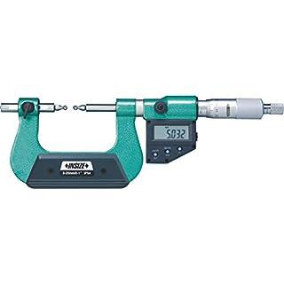 INSIZE 3591-50A Digitales Zahn-Mikrometer, Kugelspitzen sind nicht enthalten, 25 mm - 50 mm