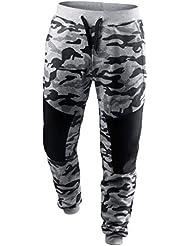 pantalones chandal hombre baratas, Sannysis Pantalón para hombre invierno termicas originales de camuflaje otoñal, pantalones termicos hombre pantalones de trabajo para hombre deporte Sweatpants (M, Gris)