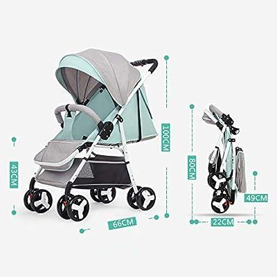 ZHAOHUIFANG Kinderwagen, Ultraleicht Tragbar Kann Liegender Klapptrolley Babyschirm Hoher Landschaft Kinderwagen Sitzen