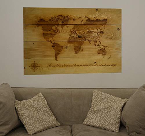 Groß weltkarte altholz, Wandkunst zurückgefordert Holz, rustikale Wohnkultur, Wandkarte Kunst Dekor, Karte Wandbehang, globus geschnitzt -