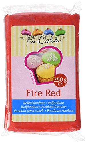 FunCakes Fondant, feuerrot, 1er Pack (1 x 250 g)