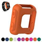 iFeeker Garmin Forerunner 35Coque de protection de bracelet de montre GPS de course de remplacement, souple en silicone, résistant aux chocs et aux cassures, Orange